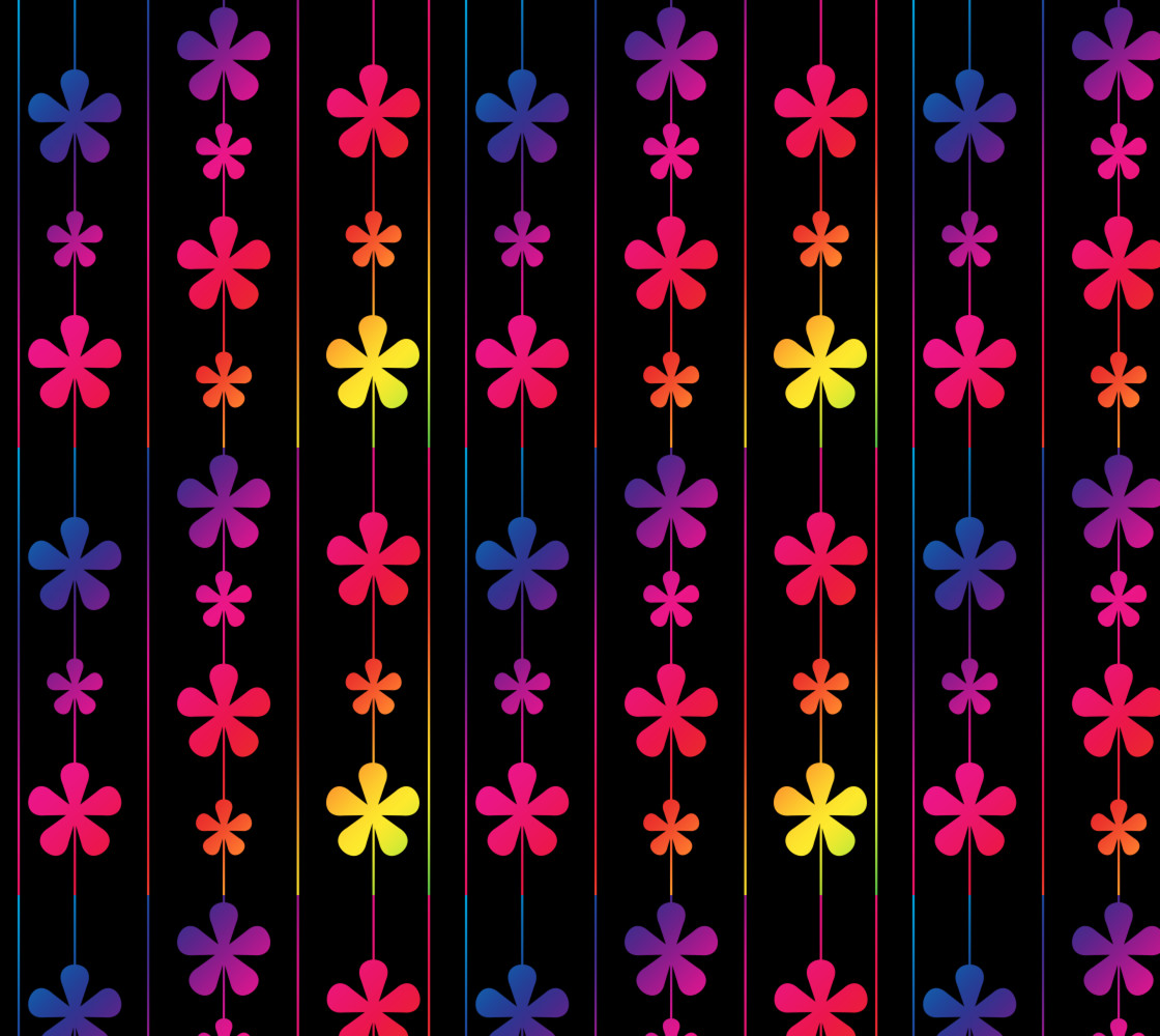 Rainbow Flowers and Stripes thumbnail #1