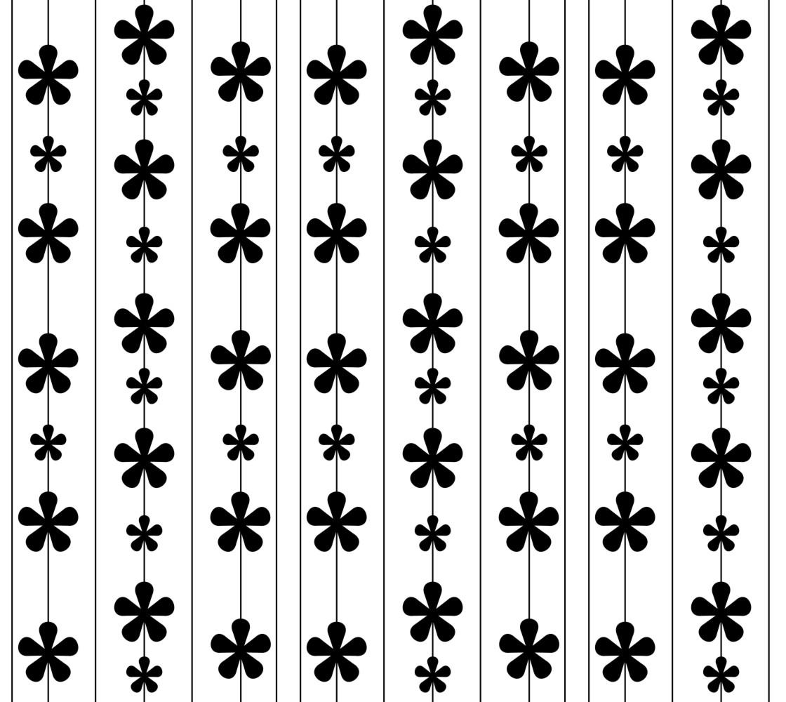 Black Flowers and Stripes thumbnail #1