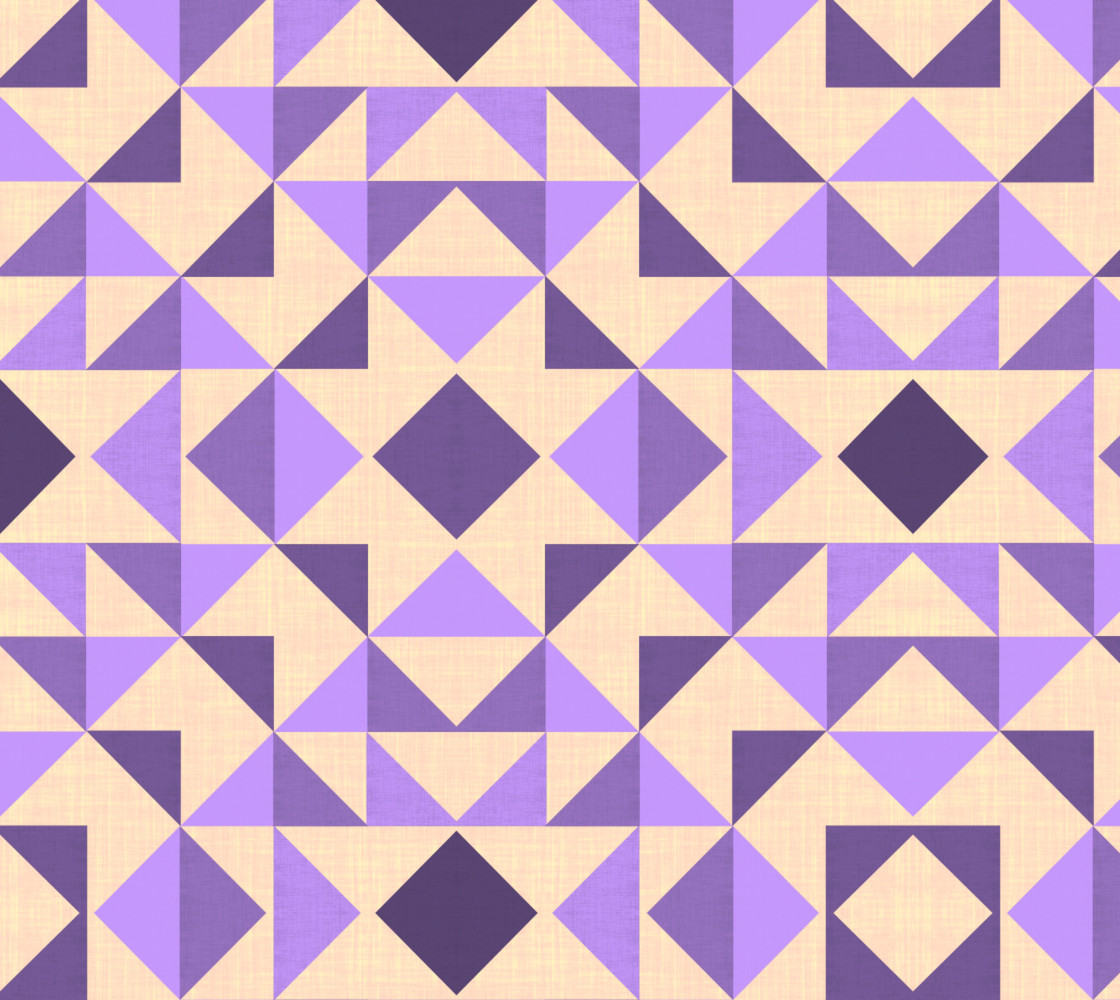 PURPLE AZTEC GEOMETRY Miniature #1
