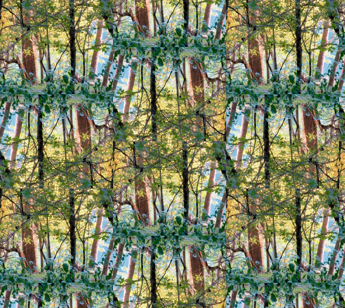 The Magical Forests of Memory: Half Drop Vertical Rotation Miniature #1