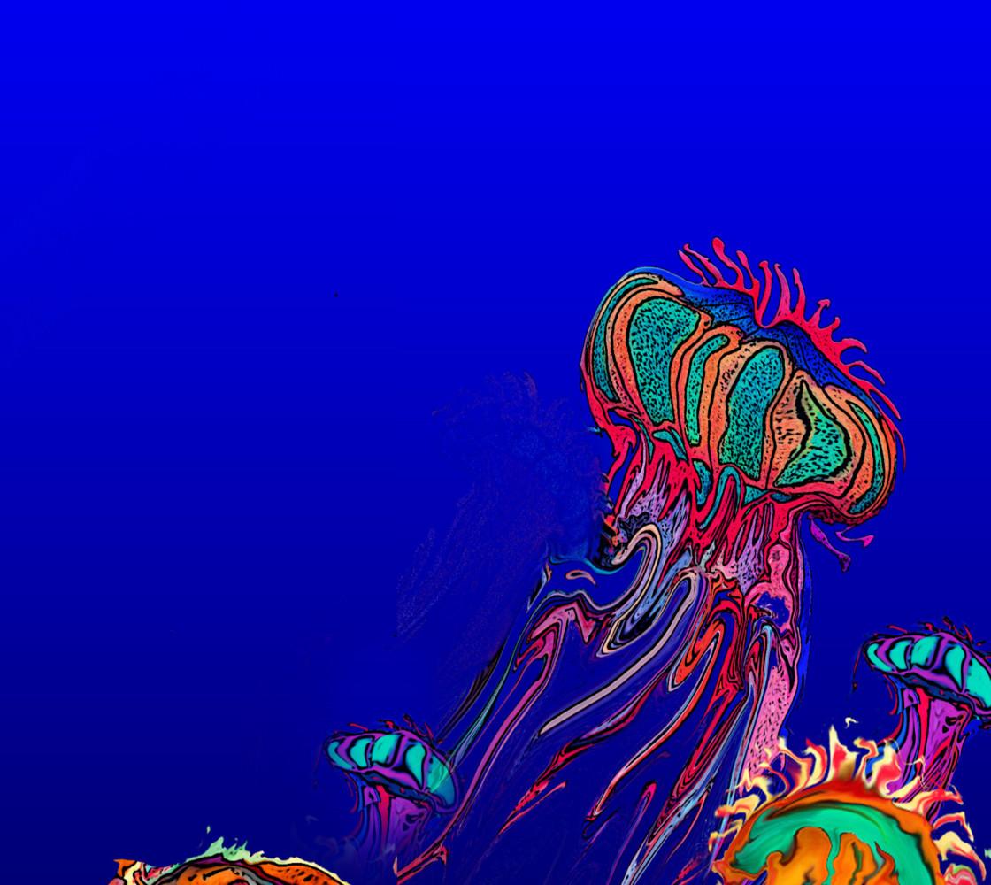 Jellyfish fabric Miniature #1