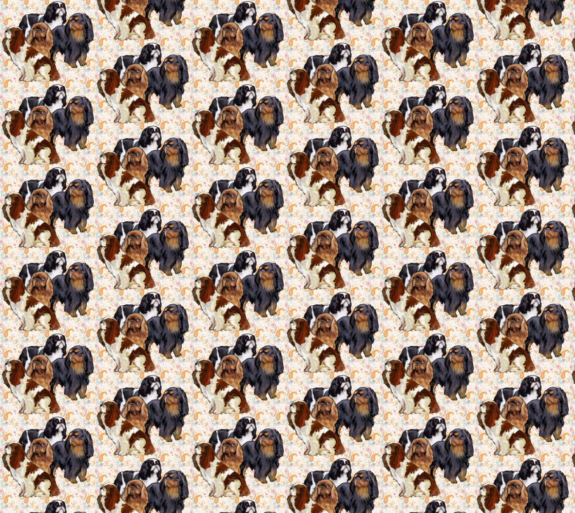 English Toy Spaniels fabric thumbnail #1