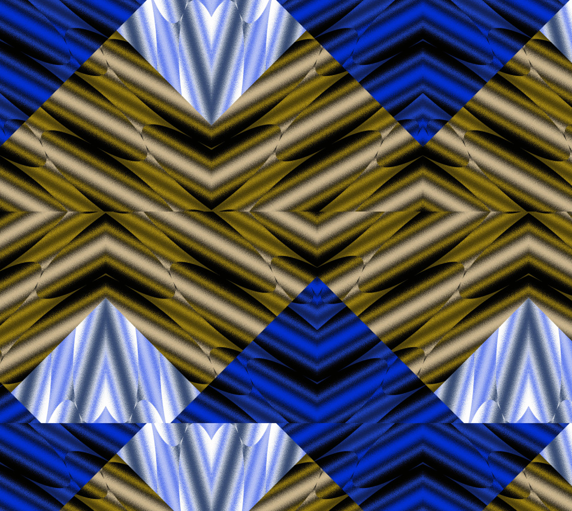 Patched in Blue and Brown thumbnail #1