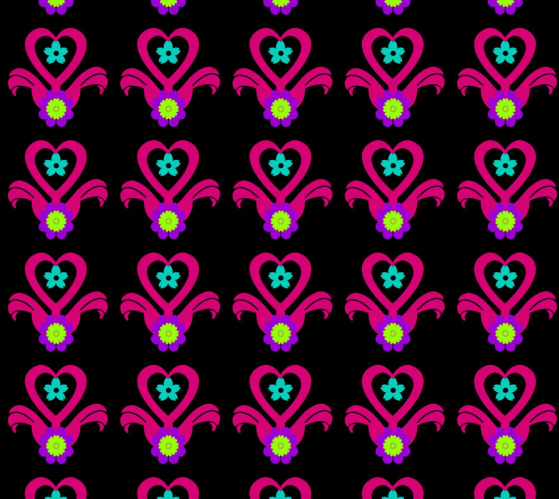 Neon Heart Flower Pot thumbnail #1