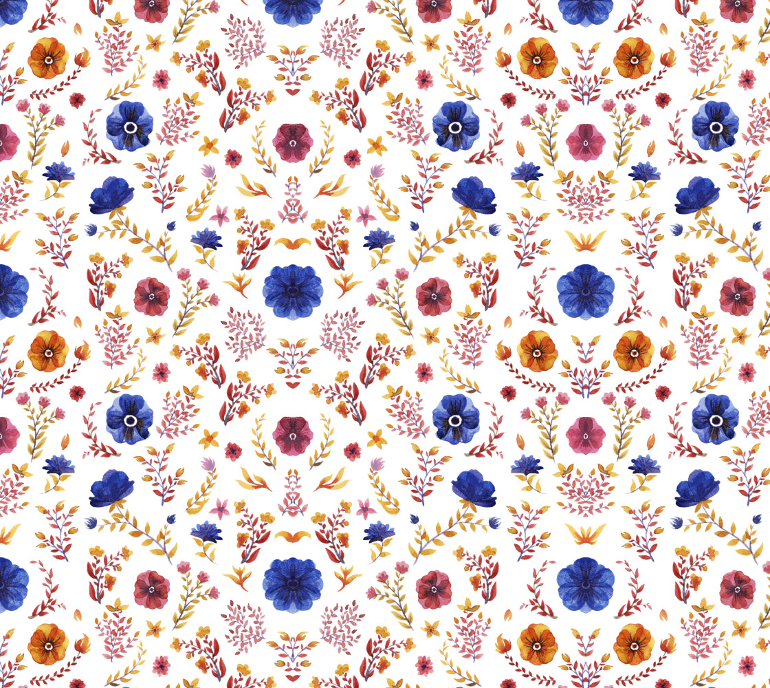 flowers watercolor of floral rose seamless pattern Miniature #1