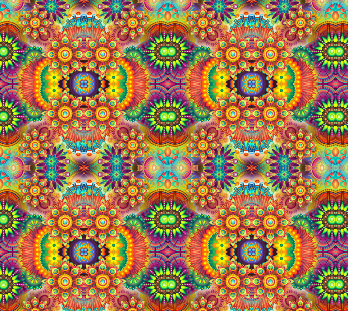 Colourful Funky Flowers thumbnail #1
