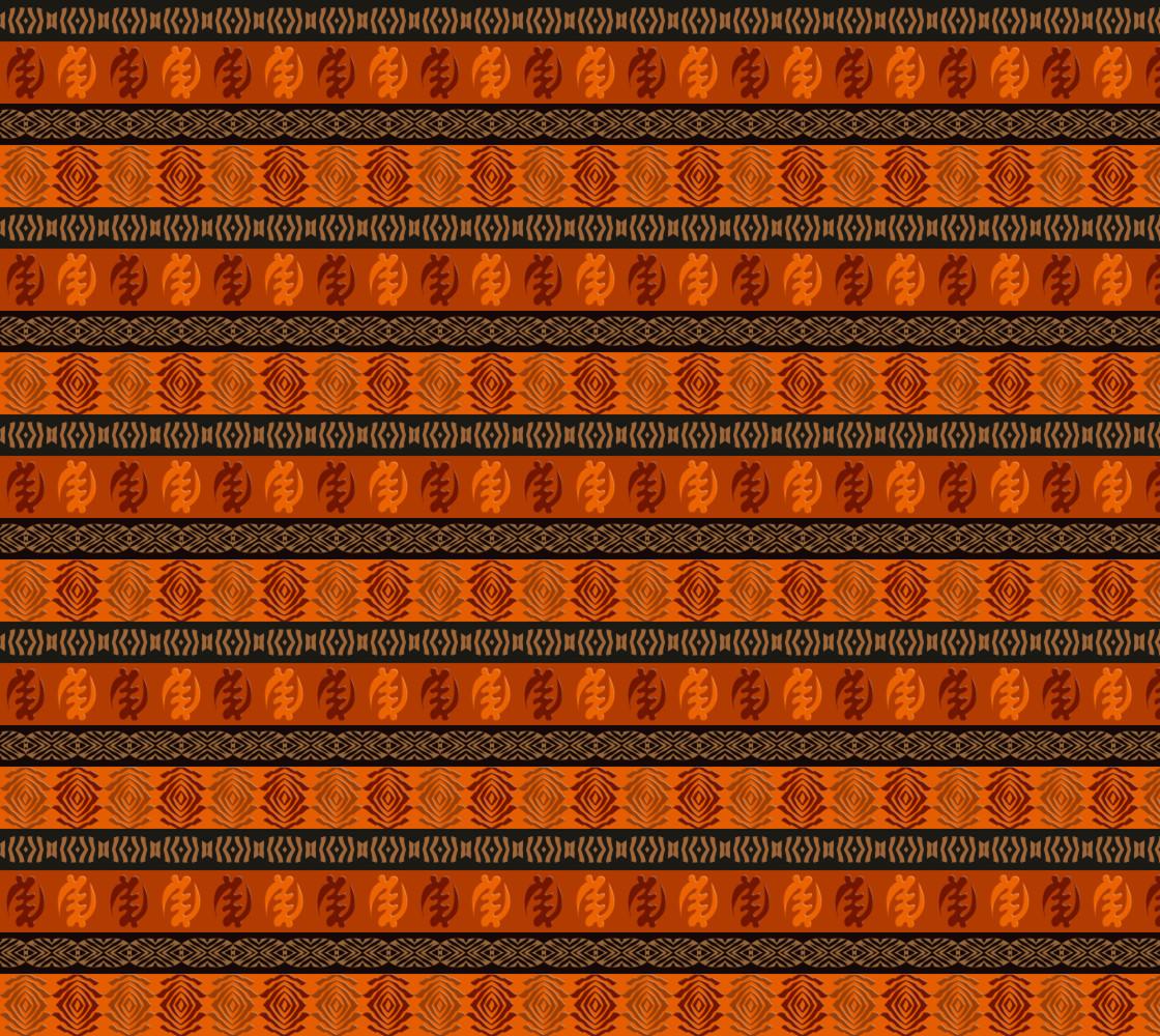 Ethnic african pattern with Adinkra simbols thumbnail #1
