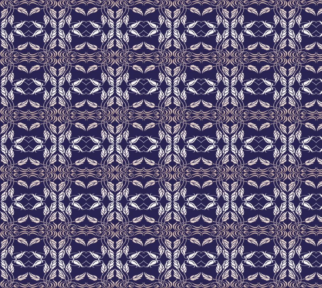 Floral damask silver pattern thumbnail #1