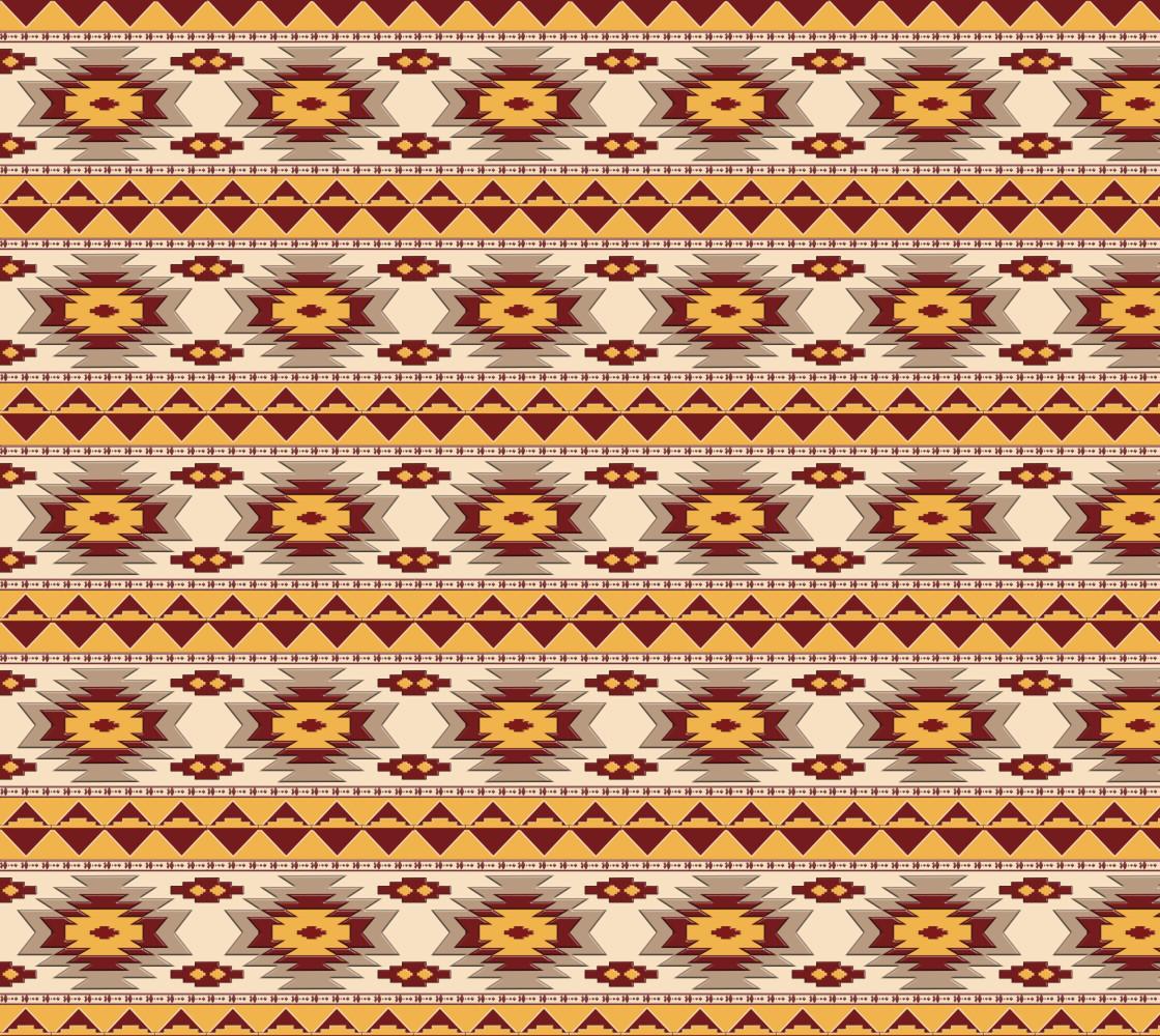 Southwestern ethnic navajo tribal pattern Miniature #1