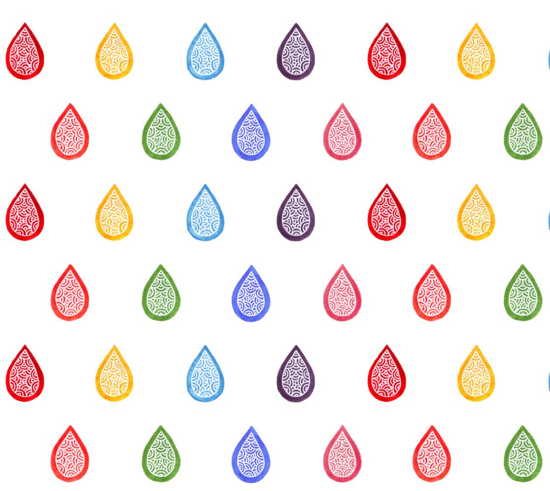 Rainbow raindrops Fabric thumbnail #1