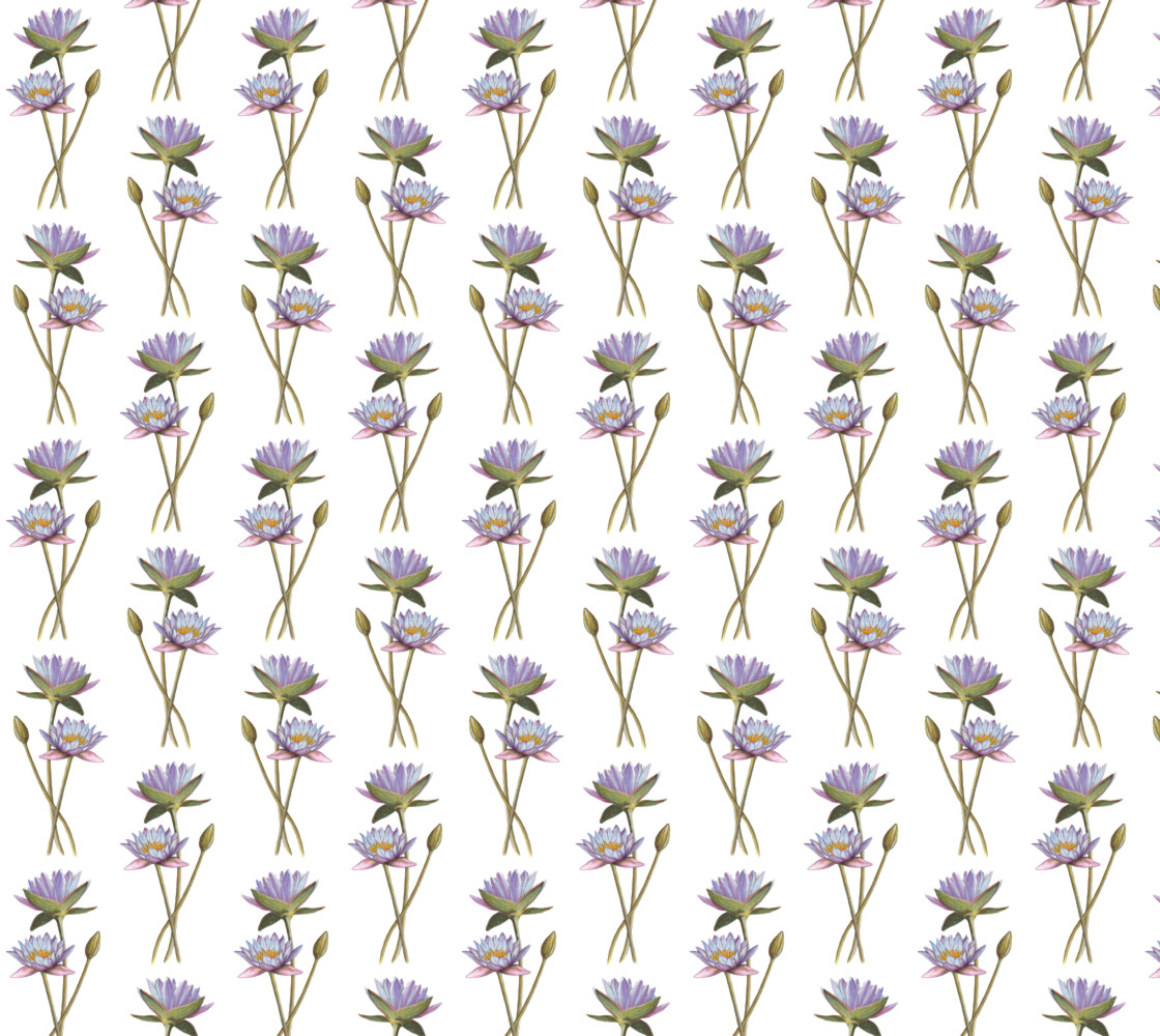 Lotus flowers pattern Fabric Miniature #1