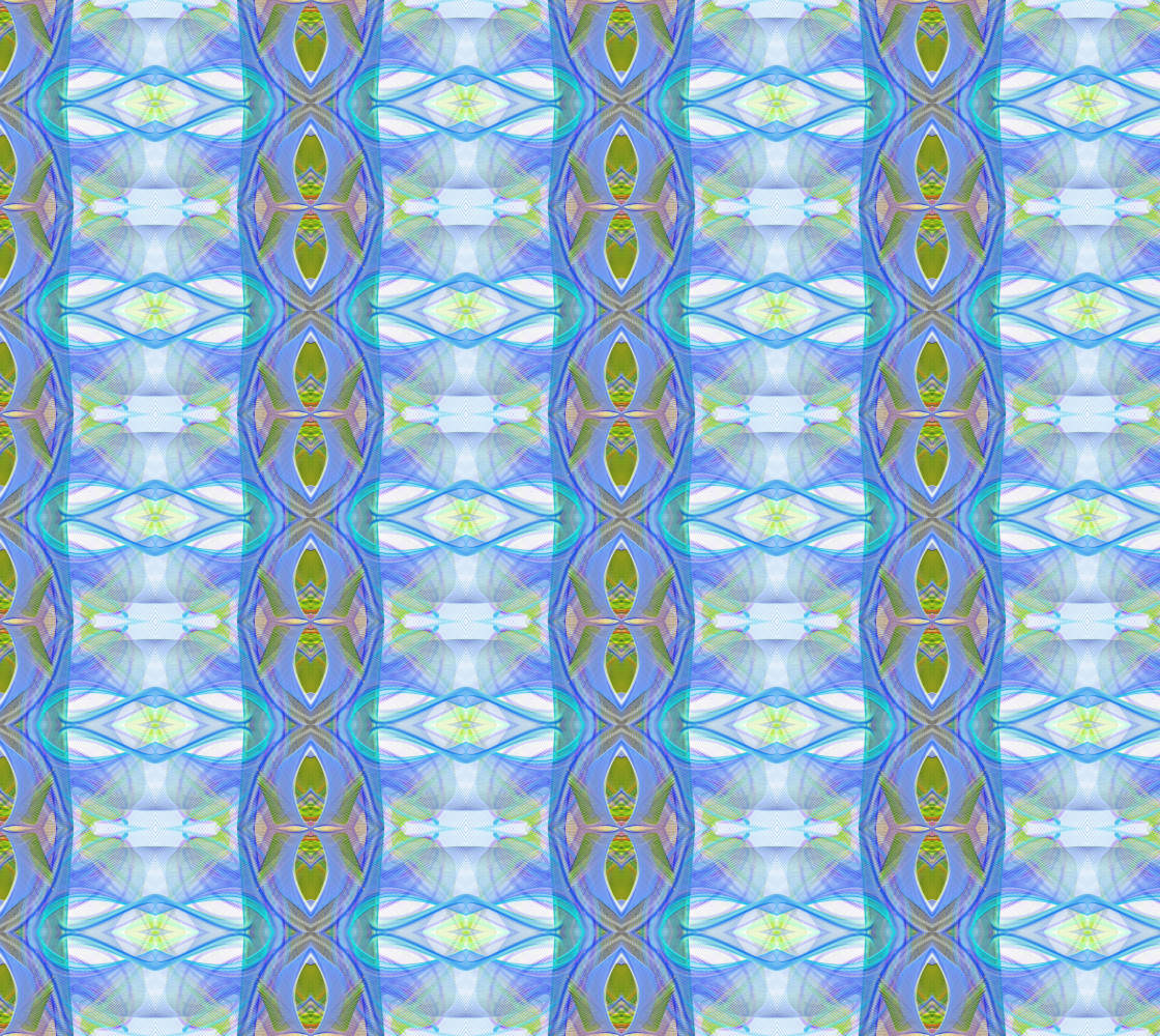 Fractal ethnic blue pattern thumbnail #1