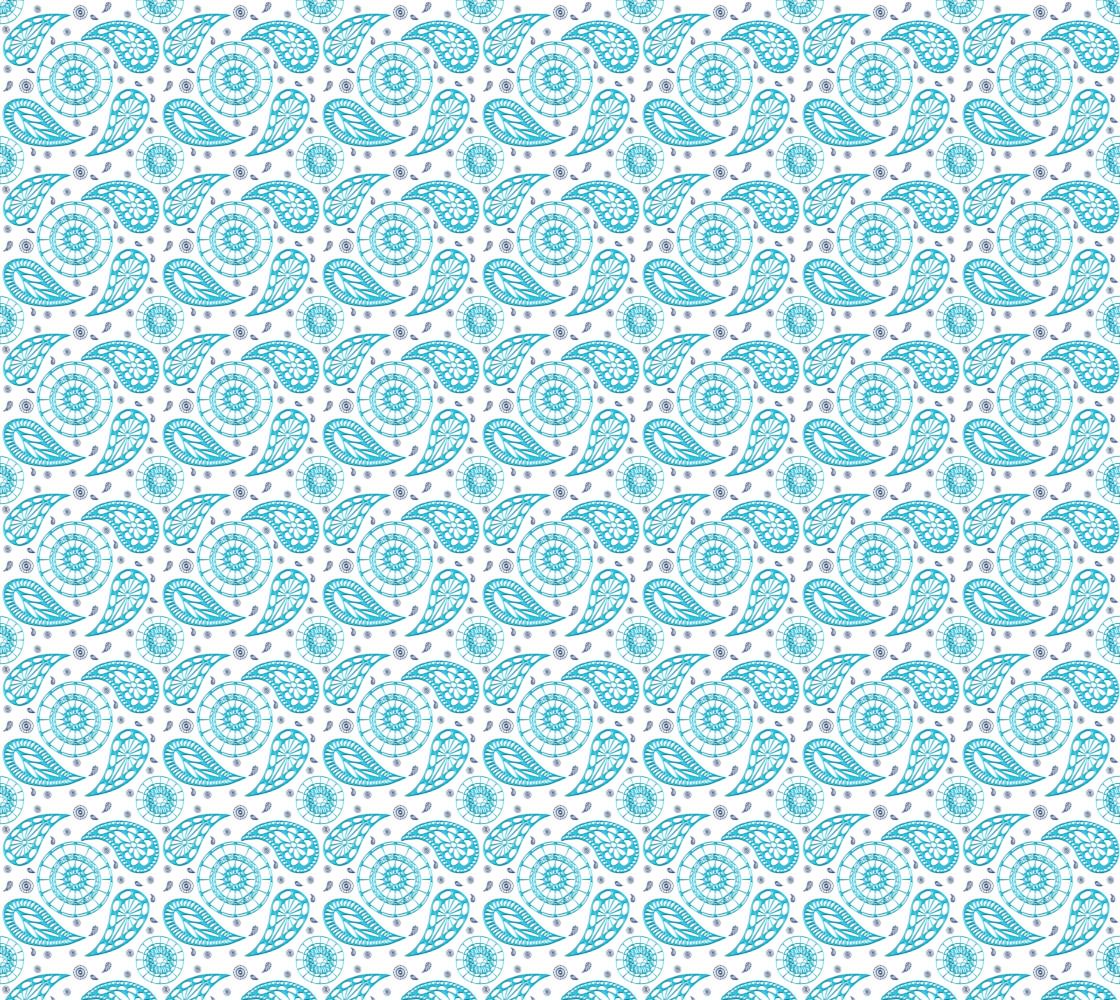 Paisley teal seamless pattern. thumbnail #1