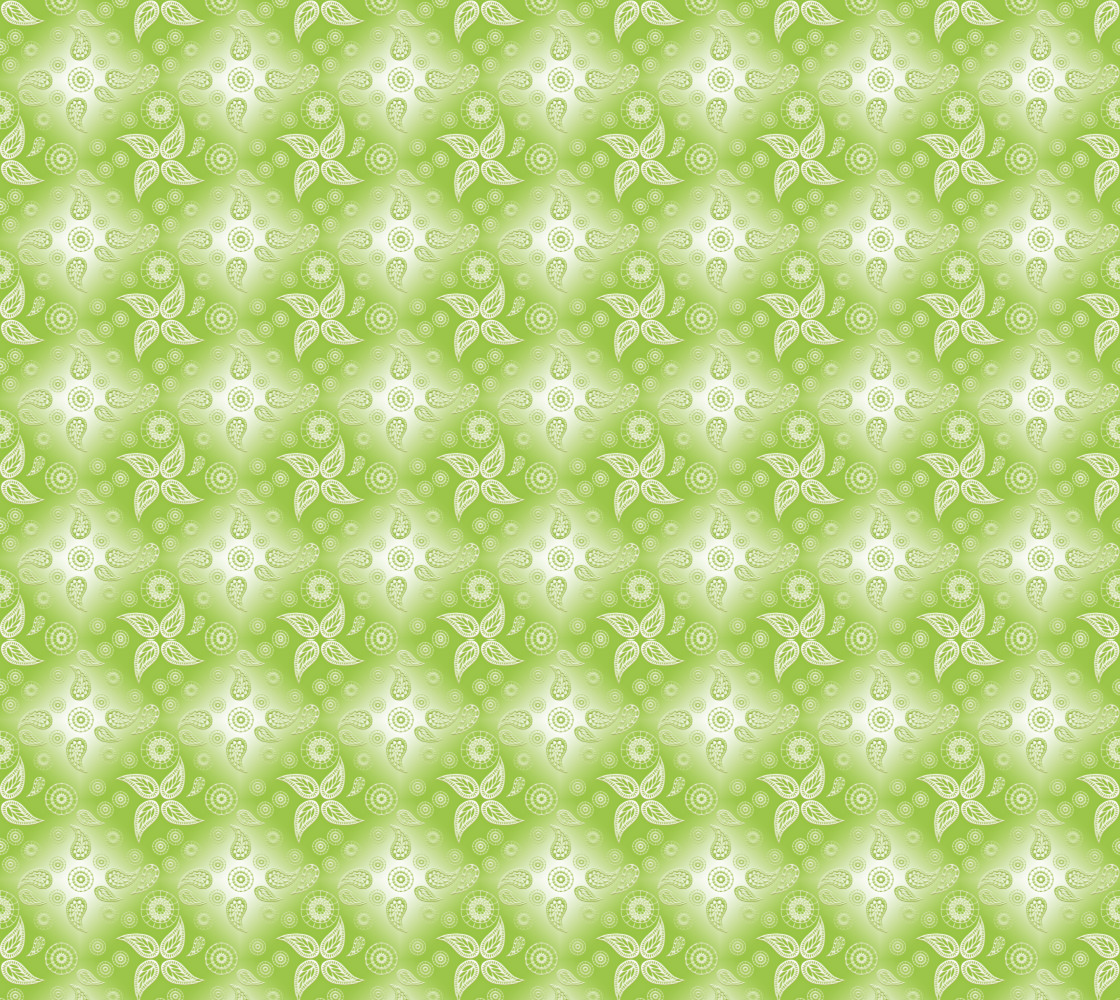 paisley green summer pattern thumbnail #1