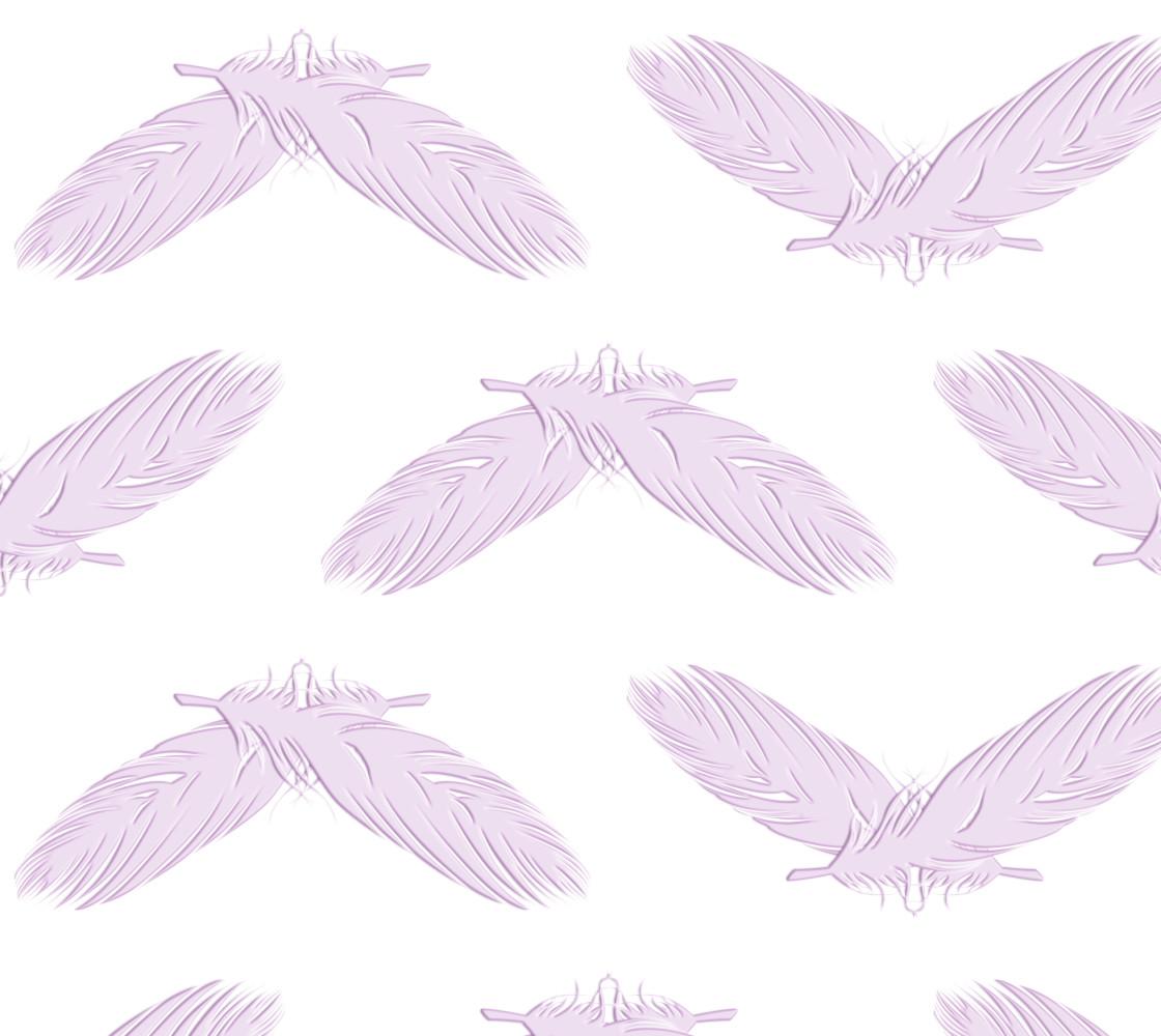 Boho feathers pink  pattern thumbnail #1