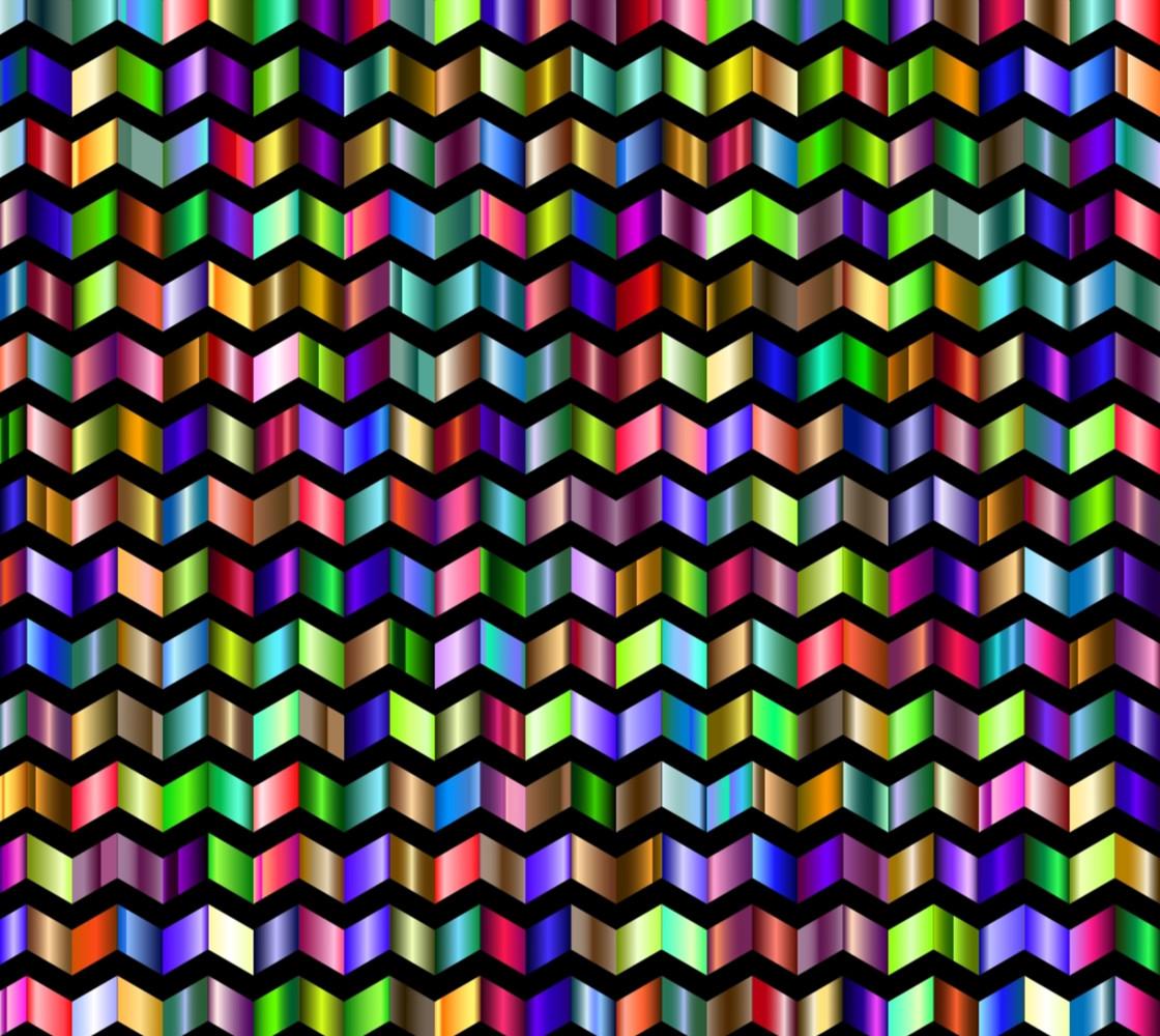 Abstract Chevron - Multi Color Miniature #1