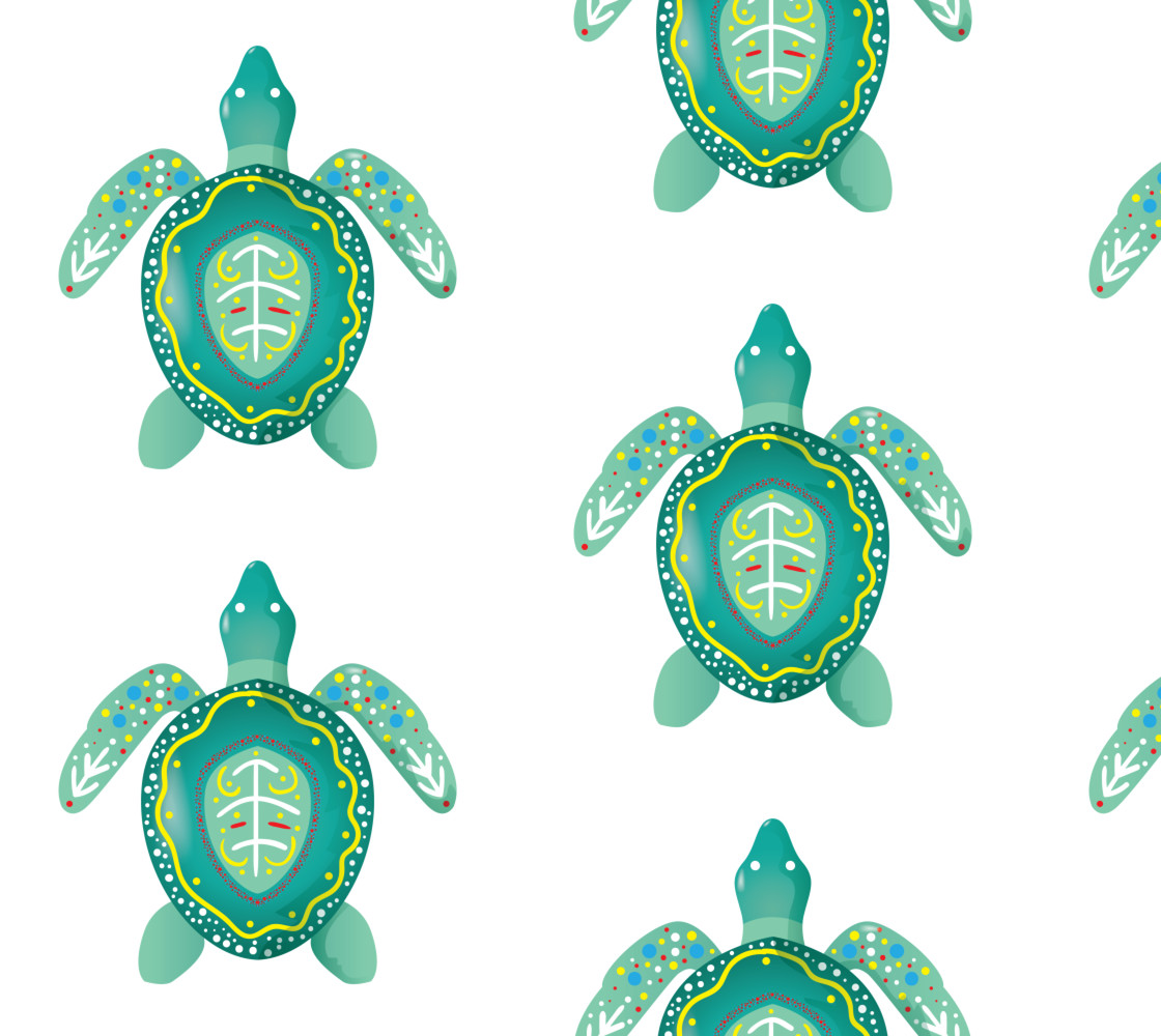 Tribal Turtle 2 Miniature #1