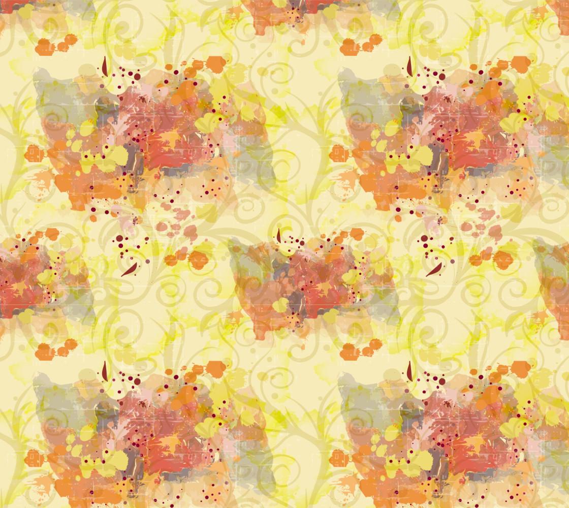 Fall Fabric - splashes of color.  Miniature #1