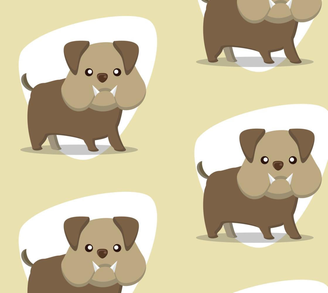 Bulldog on Pastel Background Miniature #1