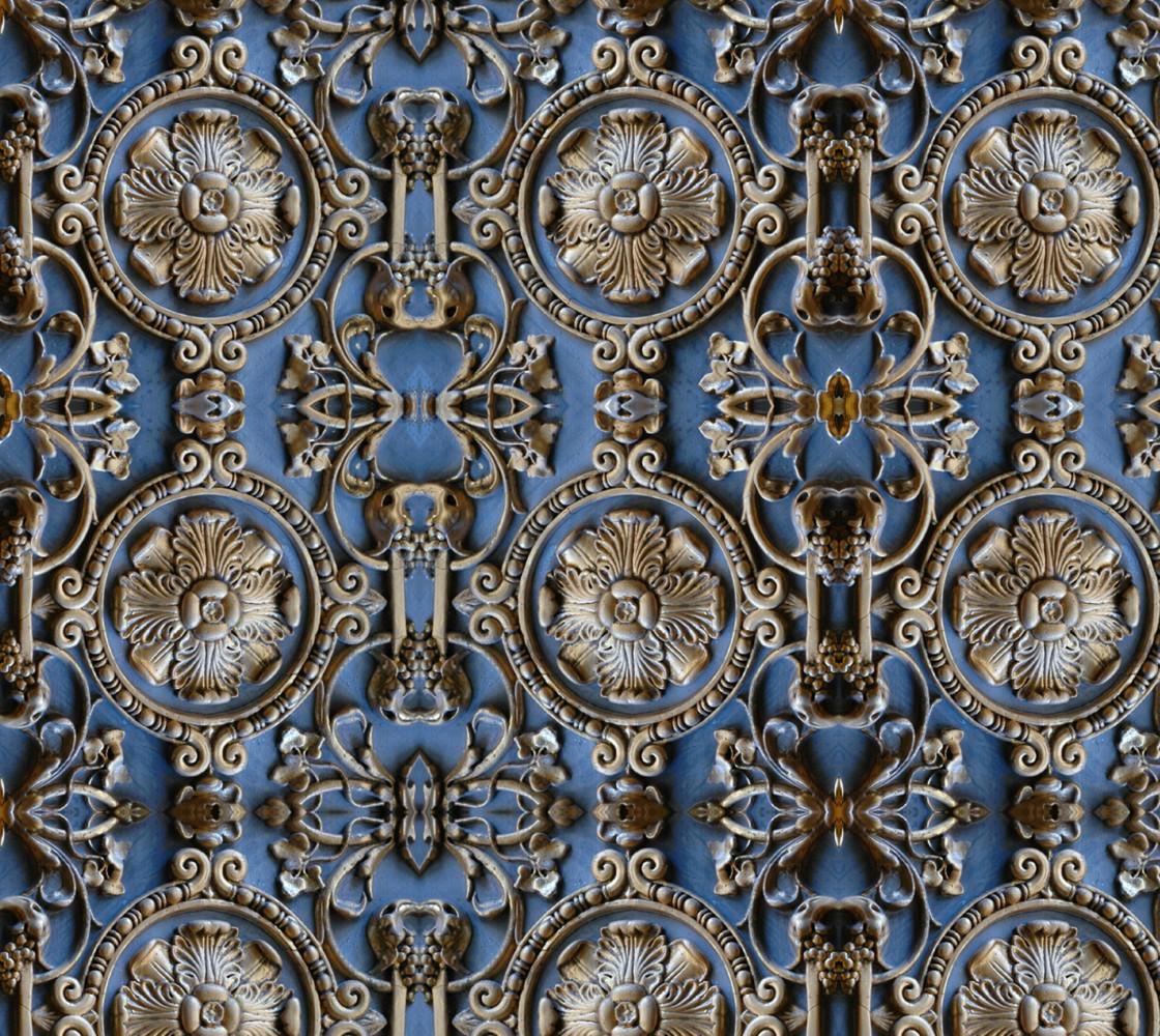 Blue Tile Fabric thumbnail #1