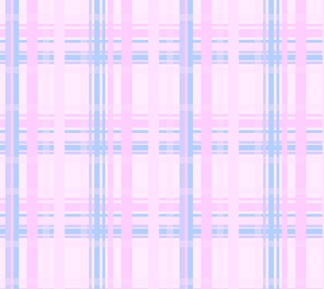 Pink Plaid Fabric thumbnail #1