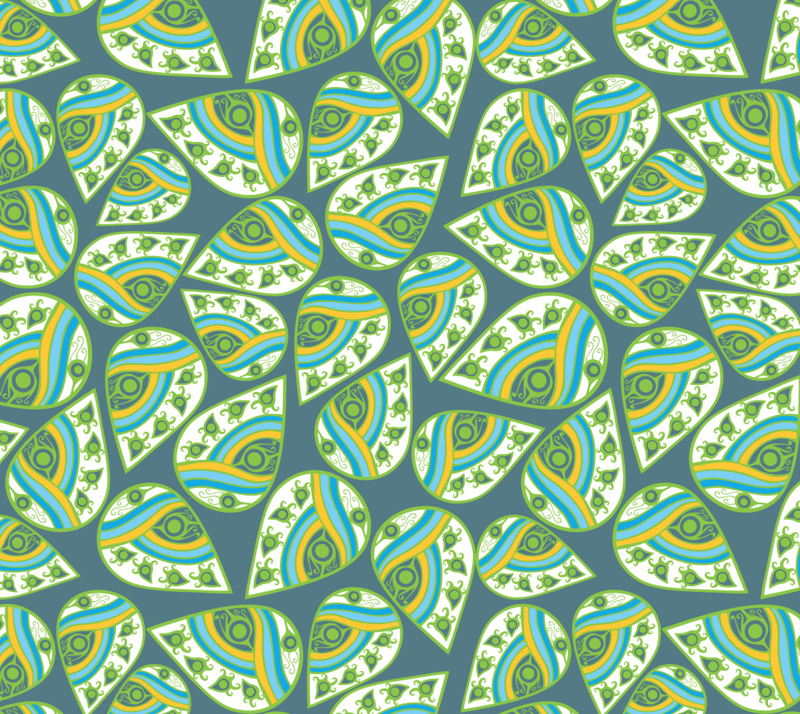 Abstract Paisley Leaves thumbnail #1