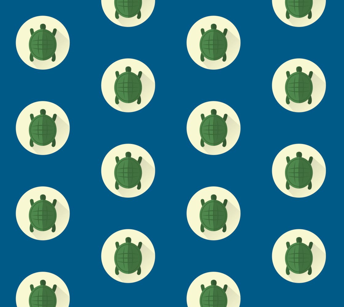 Turtles - Blue Background Miniature #1