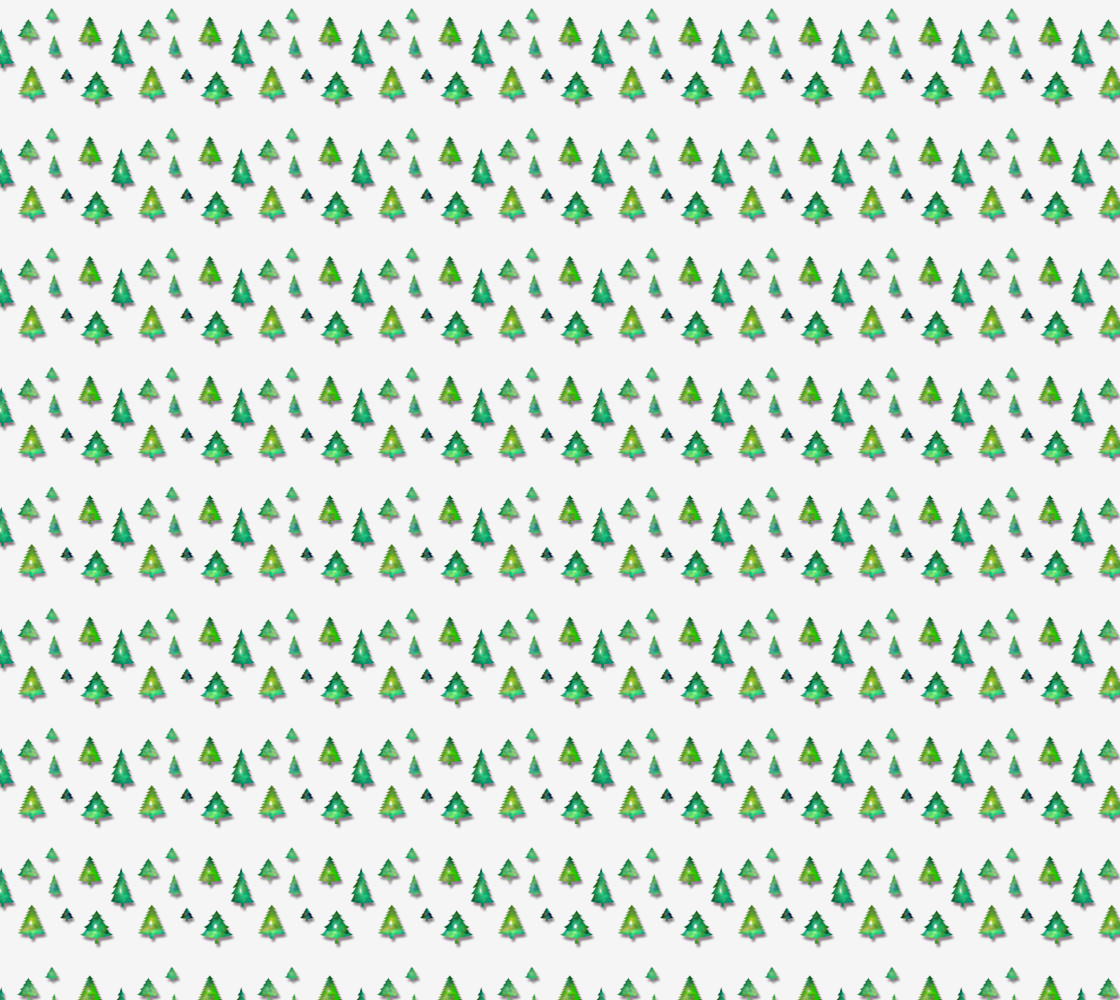 christmas holiday retro forest pattern thumbnail #1