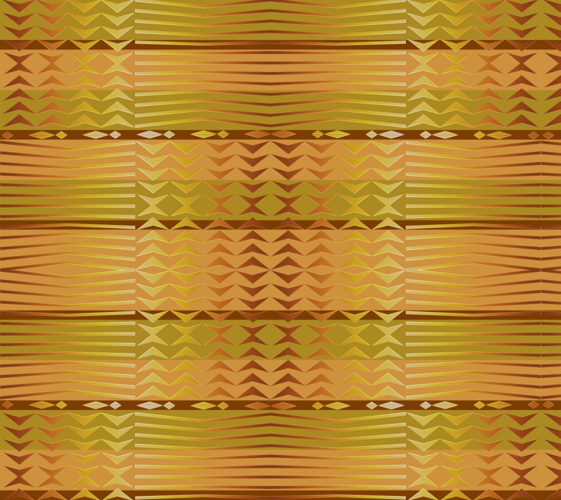 ethnic golden geometric african pattern. Miniature #1