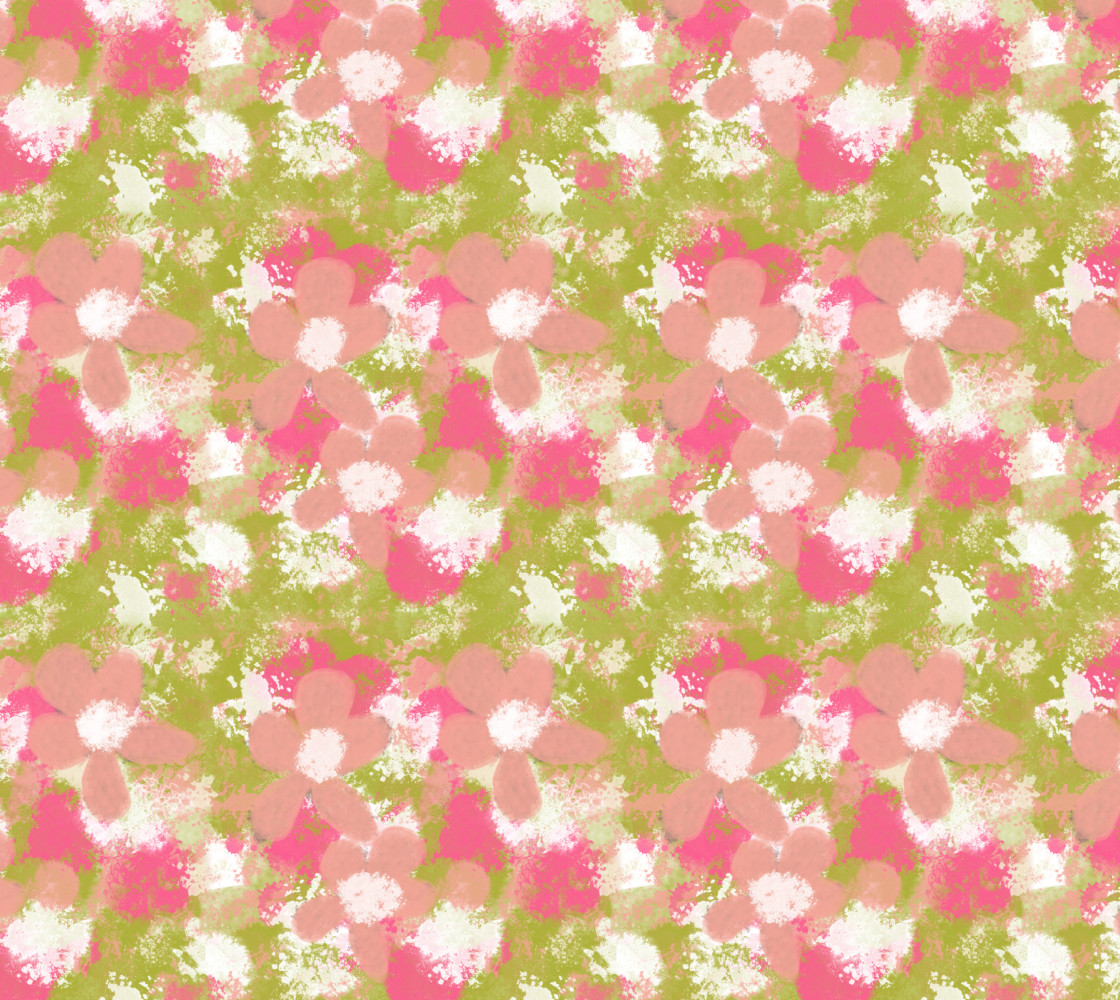 Abstract Peach Flowers thumbnail #1
