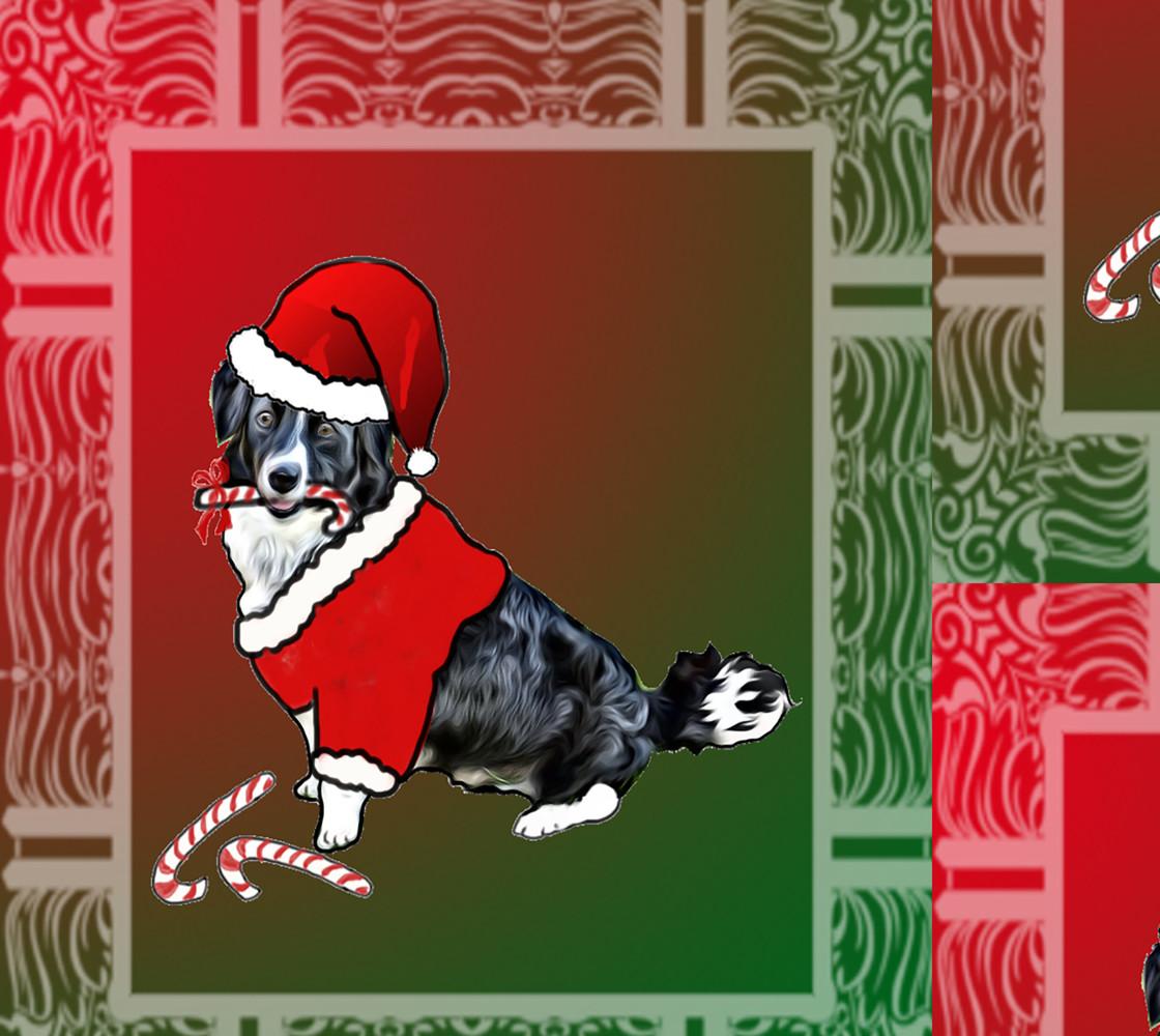 Christmas Border Collie Miniature #1