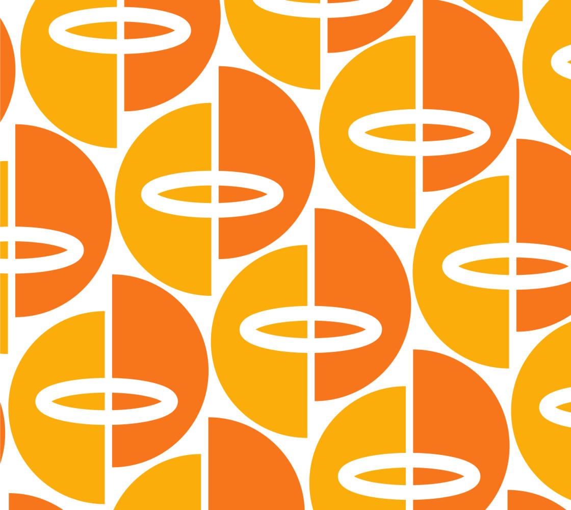 Mid-Century Modern Orange/Gold thumbnail #1