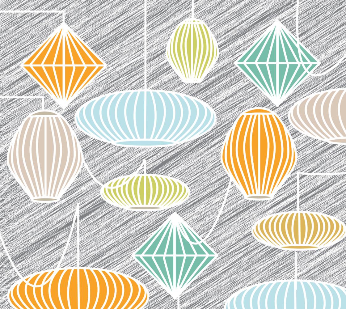 Mid Century Modern Lampshades thumbnail #1