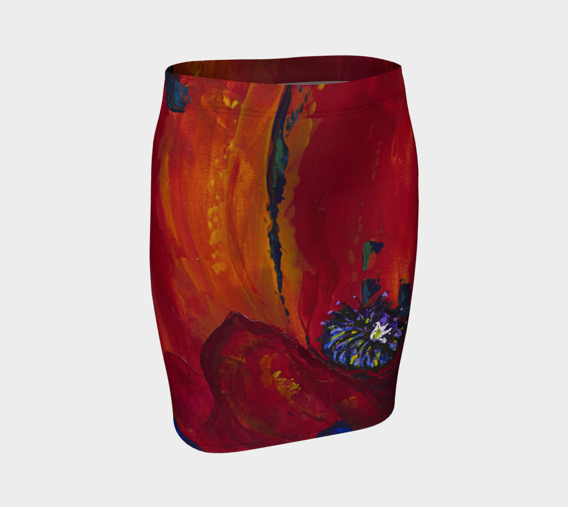 Aperçu de Red Poppy Skirt #1
