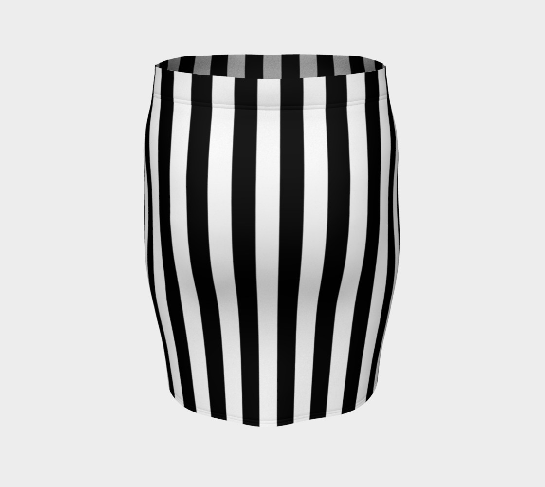 Black and White Vertical Stripes Miniature #5
