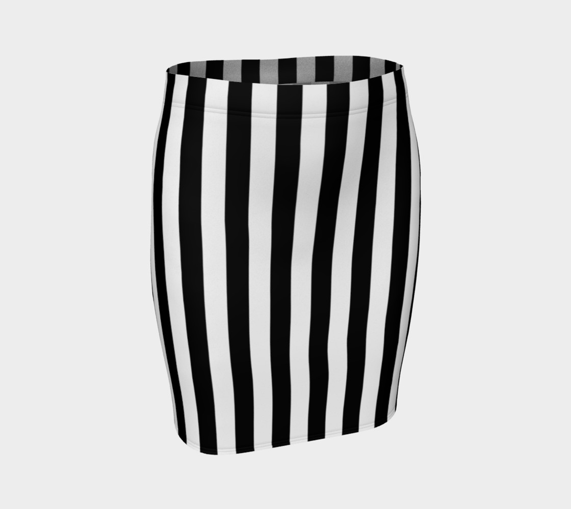 Black and White Vertical Stripes Miniature #2