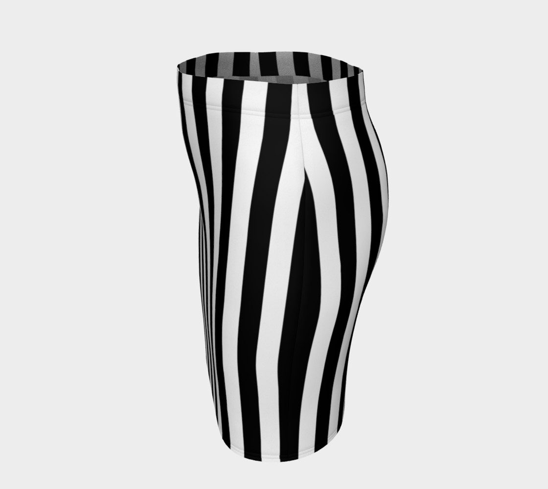 Black and White Vertical Stripes Miniature #3