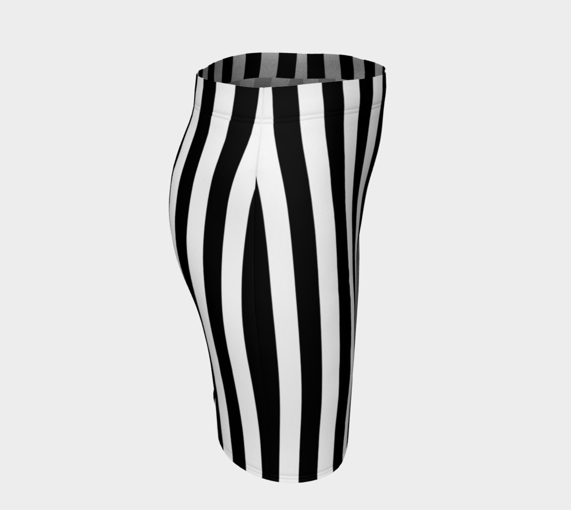 Black and White Vertical Stripes Miniature #4
