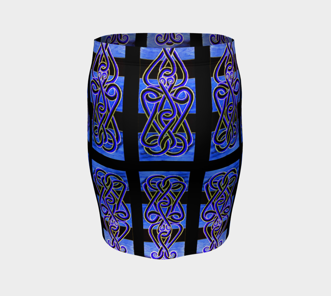 Aperçu de 'Spider Knocker Blue' Fitted Skirt #4