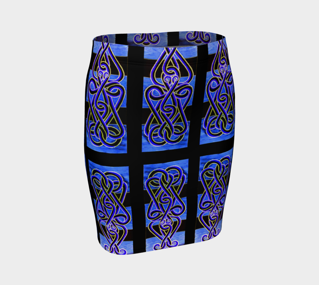 Aperçu 3D de 'Spider Knocker Blue' Fitted Skirt