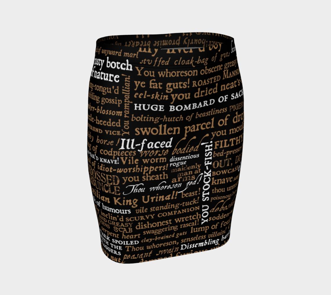 Aperçu de Shakespeare Insults Collection Skirt #1