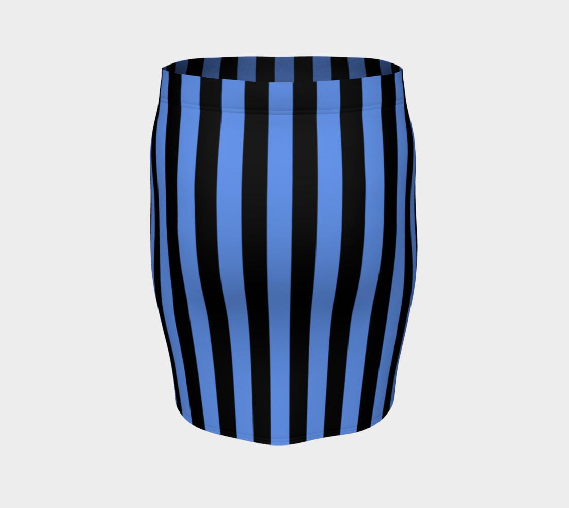 Aperçu de Black and Cornflower Blue Stripes #4
