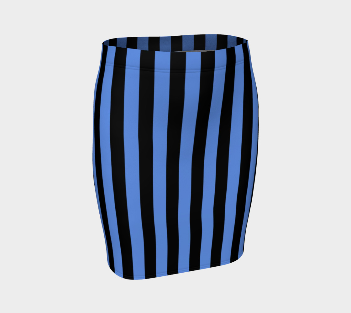 Aperçu de Black and Cornflower Blue Stripes #1