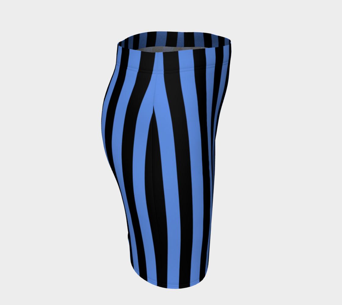 Aperçu de Black and Cornflower Blue Stripes #3