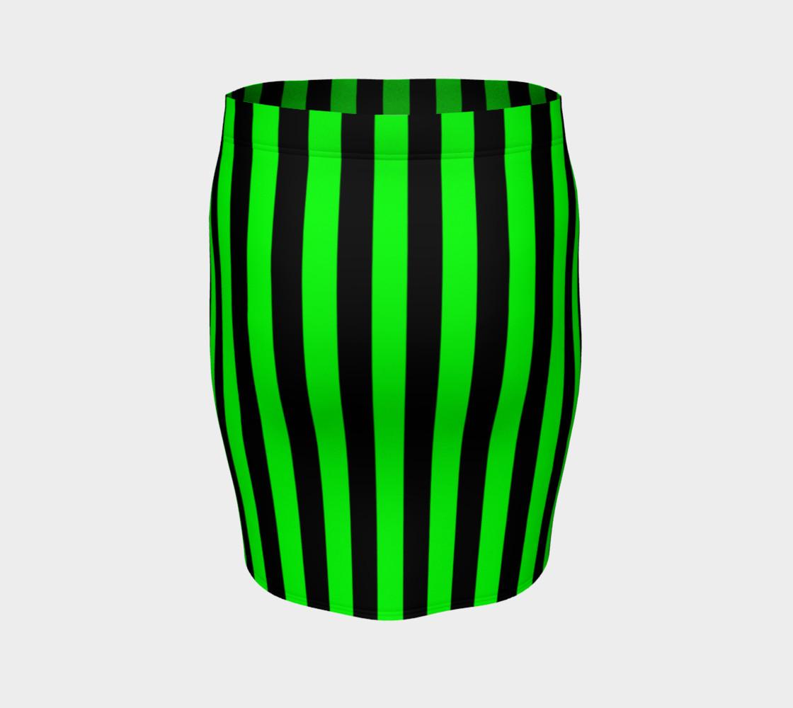 Aperçu de Black and Lime Green Stripes #4