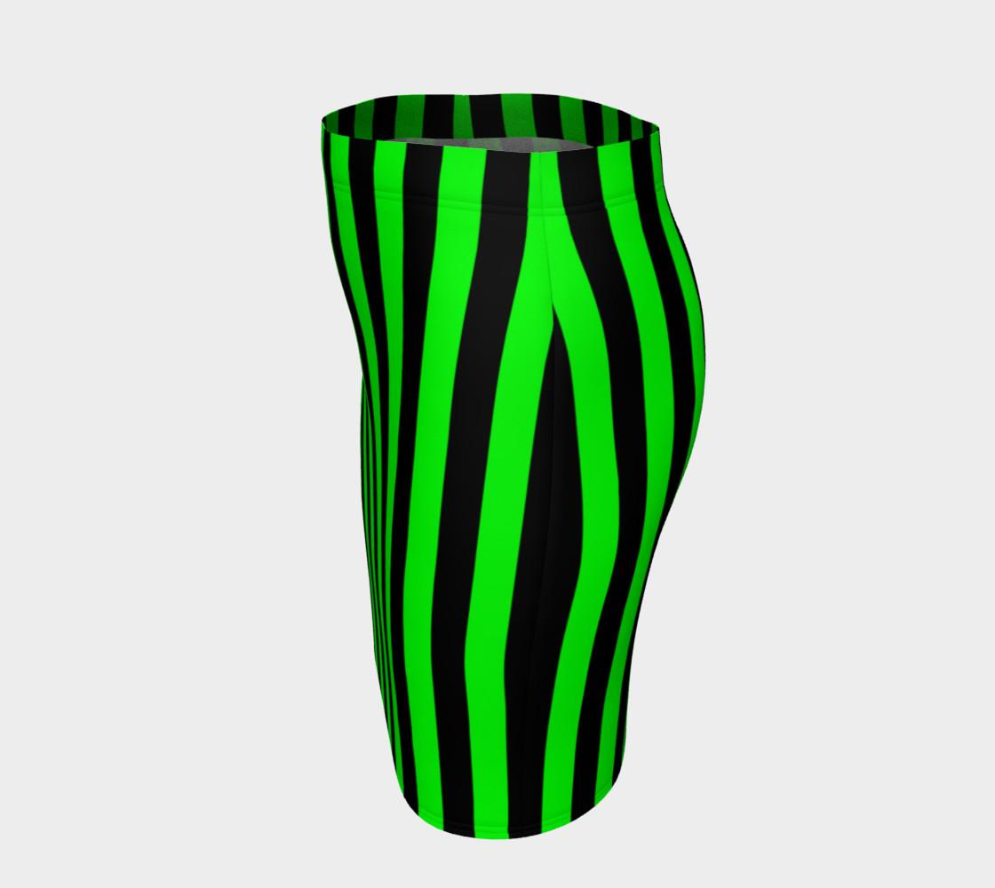 Aperçu de Black and Lime Green Stripes #2