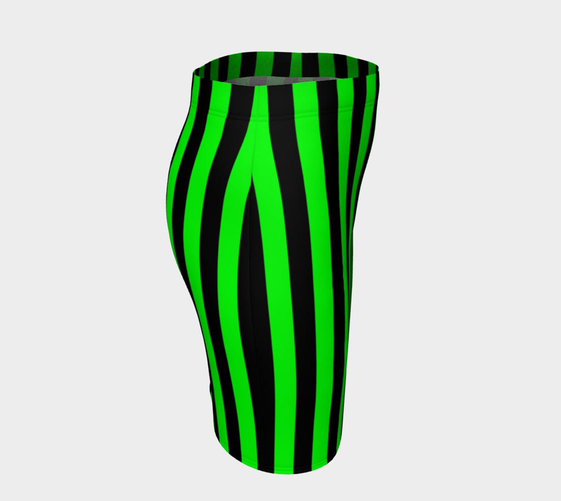 Aperçu de Black and Lime Green Stripes #3