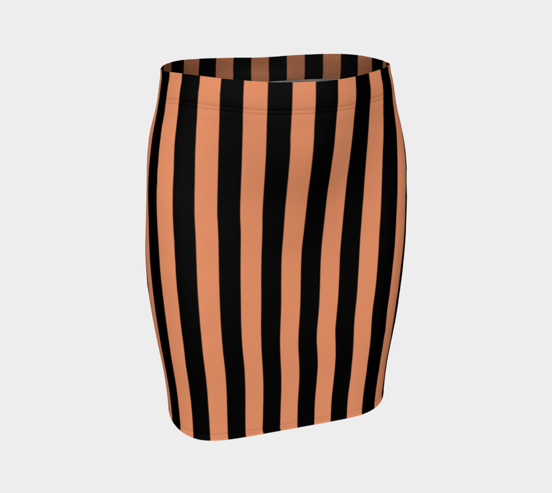 Aperçu de Black and Peach Stripes #1