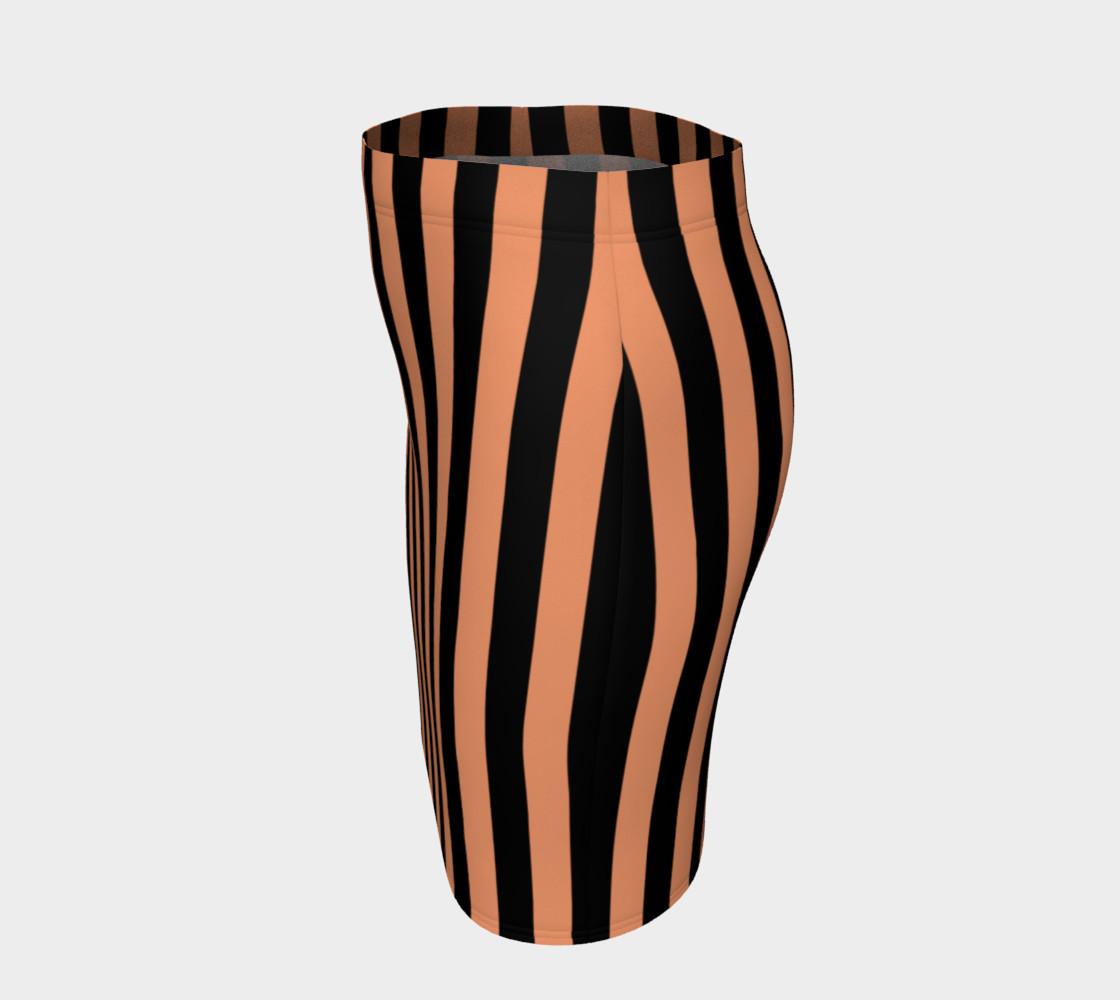 Aperçu de Black and Peach Stripes #2