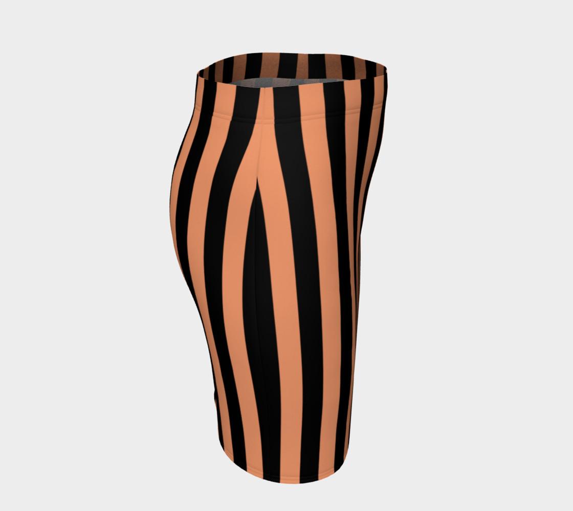 Aperçu de Black and Peach Stripes #3